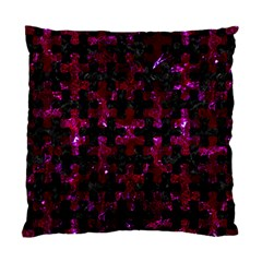 Puzzle1 Black Marble & Burgundy Marble Standard Cushion Case (two Sides) by trendistuff