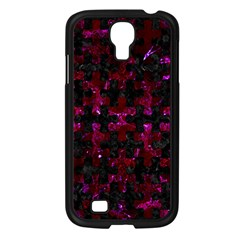 Puzzle1 Black Marble & Burgundy Marble Samsung Galaxy S4 I9500/ I9505 Case (black) by trendistuff