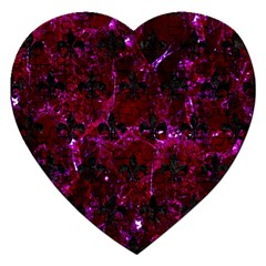 Royal1 Black Marble & Burgundy Marble Jigsaw Puzzle (heart) by trendistuff