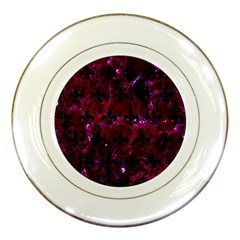 Royal1 Black Marble & Burgundy Marble Porcelain Plates by trendistuff