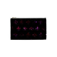 Royal1 Black Marble & Burgundy Marble (r) Cosmetic Bag (small)  by trendistuff