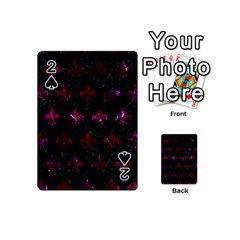 Royal1 Black Marble & Burgundy Marble (r) Playing Cards 54 (mini)  by trendistuff