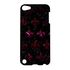 Royal1 Black Marble & Burgundy Marble (r) Apple Ipod Touch 5 Hardshell Case by trendistuff