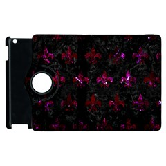Royal1 Black Marble & Burgundy Marble (r) Apple Ipad 3/4 Flip 360 Case by trendistuff