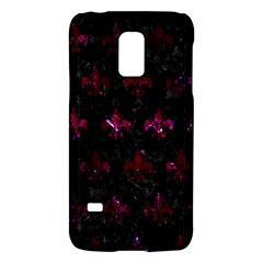 Royal1 Black Marble & Burgundy Marble (r) Galaxy S5 Mini by trendistuff