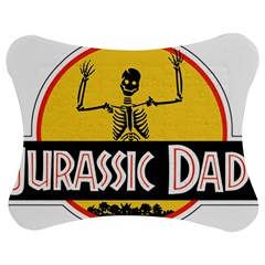 Jurassic Dad Dinosaur Skeleton Funny Birthday Gift Jigsaw Puzzle Photo Stand (bow) by PodArtist