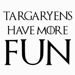 Targaryens Have More Fun   Blondes Have More Fun Black Canvas 36  X 48   by PodArtist