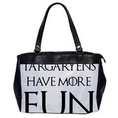 Targaryens Have More Fun   Blondes Have More Fun Black Office Handbags by PodArtist