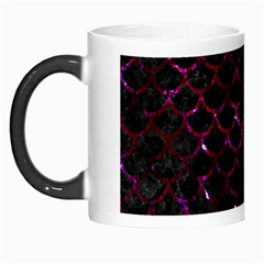 Scales1 Black Marble & Burgundy Marble Morph Mugs by trendistuff