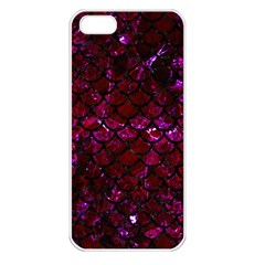 Scales1 Black Marble & Burgundy Marble (r)ack Marble & Burgundy Marble (r) Apple Iphone 5 Seamless Case (white) by trendistuff