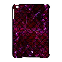 Scales1 Black Marble & Burgundy Marble (r)ack Marble & Burgundy Marble (r) Apple Ipad Mini Hardshell Case (compatible With Smart Cover) by trendistuff