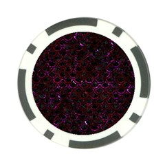 Scales2 Black Marble & Burgundy Marble Poker Chip Card Guard (10 Pack) by trendistuff