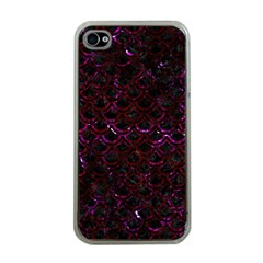 Scales2 Black Marble & Burgundy Marble Apple Iphone 4 Case (clear) by trendistuff