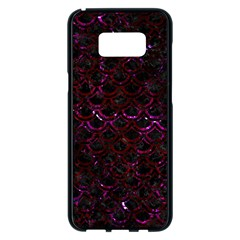 Scales2 Black Marble & Burgundy Marble Samsung Galaxy S8 Plus Black Seamless Case by trendistuff