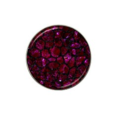 Skin1 Black Marble & Burgundy Marble Hat Clip Ball Marker (10 Pack) by trendistuff