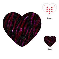 Skin3 Black Marble & Burgundy Marble Playing Cards (heart)  by trendistuff