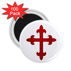 Crusader Cross 2 25  Magnets (100 Pack)  by Valentinaart