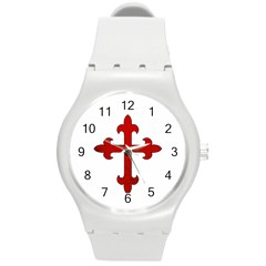 Crusader Cross Round Plastic Sport Watch (m) by Valentinaart