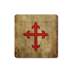 Crusader Cross Square Magnet by Valentinaart