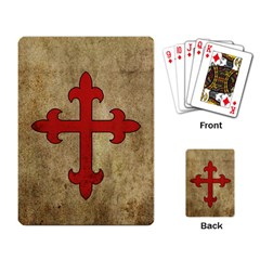 Crusader Cross Playing Card by Valentinaart
