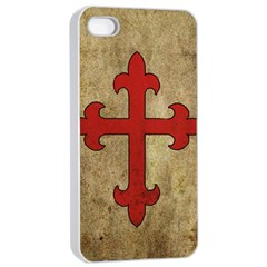 Crusader Cross Apple Iphone 4/4s Seamless Case (white)