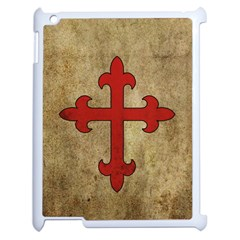 Crusader Cross Apple Ipad 2 Case (white) by Valentinaart