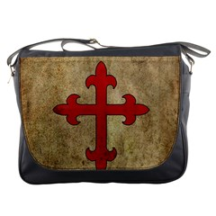 Crusader Cross Messenger Bags by Valentinaart