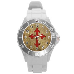 Crusader Cross Round Plastic Sport Watch (l) by Valentinaart