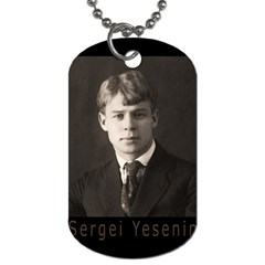 Sergei Yesenin Dog Tag (two Sides) by Valentinaart