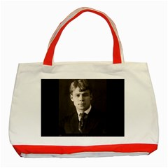 Sergei Yesenin Classic Tote Bag (red) by Valentinaart