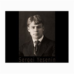 Sergei Yesenin Small Glasses Cloth (2 Side) by Valentinaart