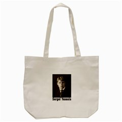 Sergei Yesenin Tote Bag (cream) by Valentinaart