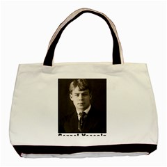 Sergei Yesenin Basic Tote Bag (two Sides) by Valentinaart