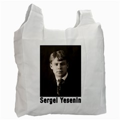 Sergei Yesenin Recycle Bag (two Side)  by Valentinaart