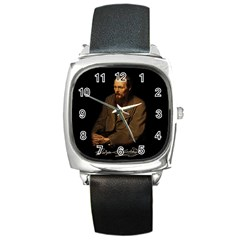 Fyodor Dostoyevsky Square Metal Watch by Valentinaart