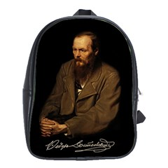 Fyodor Dostoyevsky School Bag (large) by Valentinaart