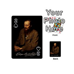 Fyodor Dostoyevsky Playing Cards 54 (mini)  by Valentinaart