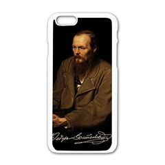 Fyodor Dostoyevsky Apple Iphone 6/6s White Enamel Case by Valentinaart