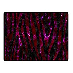 Skin4 Black Marble & Burgundy Marble (r) Double Sided Fleece Blanket (small)  by trendistuff