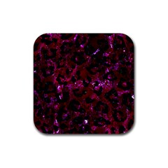 Skin5 Black Marble & Burgundy Marble Rubber Coaster (square)