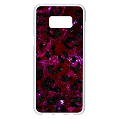 Skin5 Black Marble & Burgundy Marble Samsung Galaxy S8 Plus White Seamless Case by trendistuff