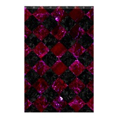 Square2 Black Marble & Burgundy Marble Shower Curtain 48  X 72  (small)  by trendistuff