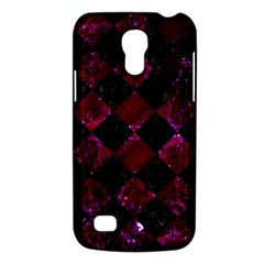Square2 Black Marble & Burgundy Marble Galaxy S4 Mini by trendistuff