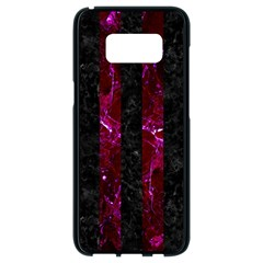 Stripes1 Black Marble & Burgundy Marble Samsung Galaxy S8 Black Seamless Case by trendistuff