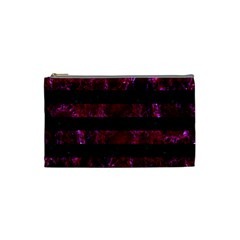Stripes2 Black Marble & Burgundy Marble Cosmetic Bag (small)  by trendistuff