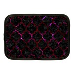 TILE1 BLACK MARBLE & BURGUNDY MARBLE Netbook Case (Medium)  Front
