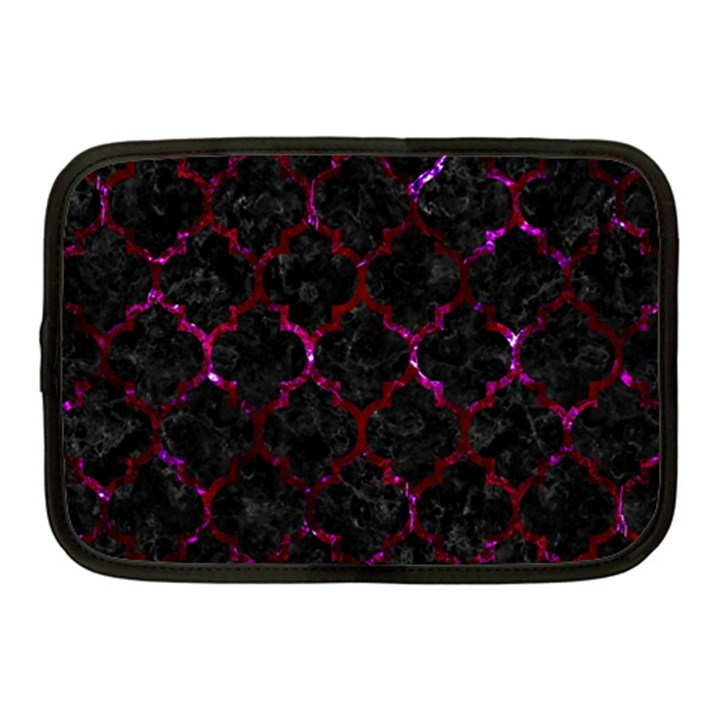 TILE1 BLACK MARBLE & BURGUNDY MARBLE Netbook Case (Medium)