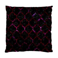 Tile1 Black Marble & Burgundy Marble Standard Cushion Case (two Sides) by trendistuff