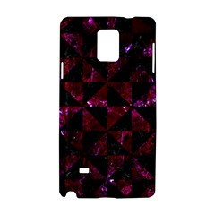 Triangle1 Black Marble & Burgundy Marble Samsung Galaxy Note 4 Hardshell Case by trendistuff