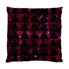 Triangle2 Black Marble & Burgundy Marble Standard Cushion Case (two Sides) by trendistuff